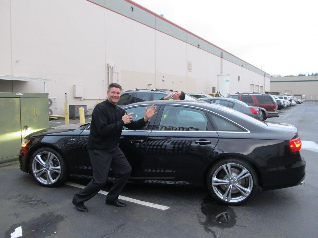 Jim Darmiento And I At Work Celebrating My New Audi S Purchase - My audi com